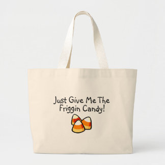 Just Give Me The Friggin Candy Candy Corn Jumbo Tote Bag