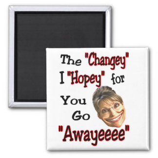 just go away! 2 inch square magnet