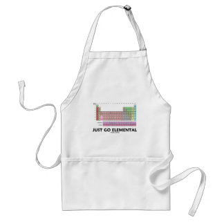 Just Go Elemental (Periodic Table Of Elements) Adult Apron