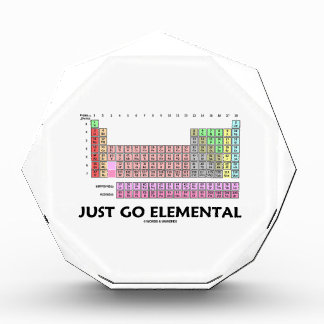 Just Go Elemental (Periodic Table Of Elements) Award