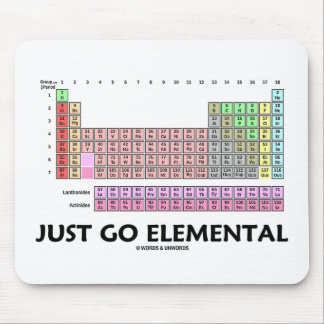 Just Go Elemental (Periodic Table Of Elements) Mouse Pad