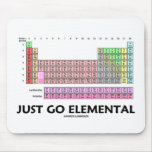 Just Go Elemental (Periodic Table Of Elements) Mousepads