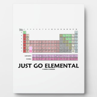 Just Go Elemental (Periodic Table Of Elements) Plaque