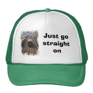 Just go straight on trucker hat