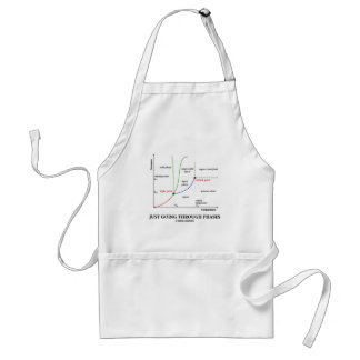 Just Going Through Phases (Chemistry Humor) Adult Apron