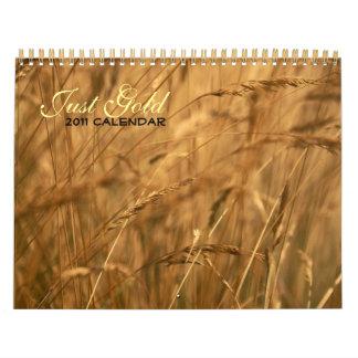 Just Gold 2011 calendar