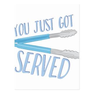 Just Got Served Postcard