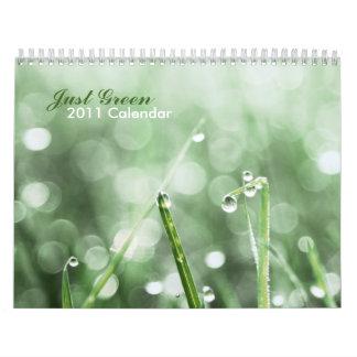 Just green 2011 Calendar