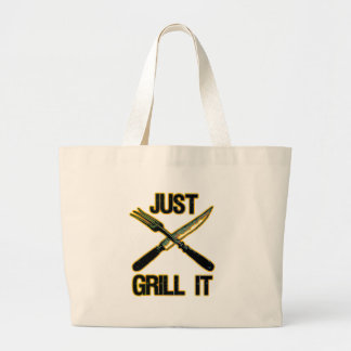 JUST GRILL IT LARGE TOTE BAG