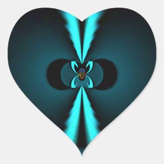Just Hakuna Matata Gifts in Blue Heart Sticker