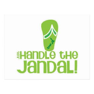 just handle the jandal! KIWI New Zealand funny say Postcard