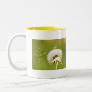Just Hangin' On Two-Tone Coffee Mug
