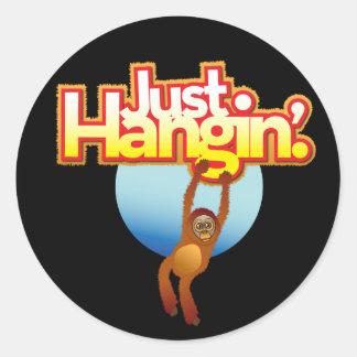 Just Hangin' Orangutan Sticker
