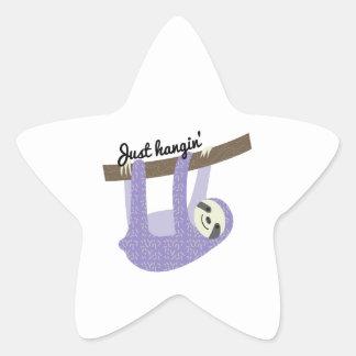 Just Hangin Star Sticker