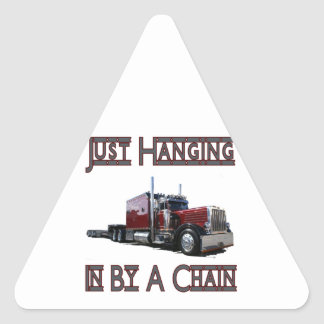 just hanging by a chain triangle sticker