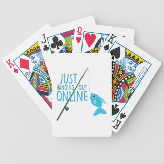 Just Hanging Out Bicycle Playing Cards
