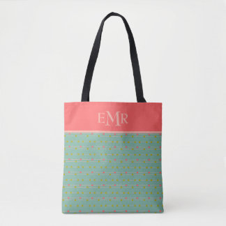 Just Happy Dots on Strings Monogram Tote Bag