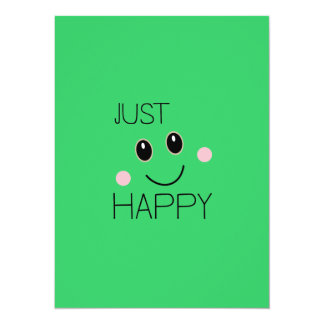 Just Happy Smiley Card