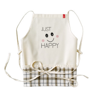 Just Happy Smiley Zazzle HEART Apron