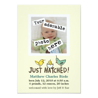 Just Hatched! Baby Announcement