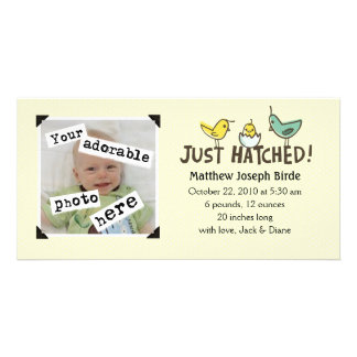 Just Hatched! Baby Announcement Photo Greeting Card