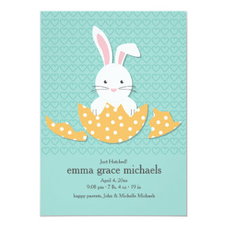 Just Hatched Birth Announcement