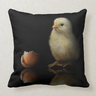 Just Hatched Chick Throw Pillow