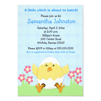 Just Hatched Easter Baby Shower Invitation