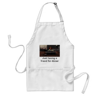 Just having a friend for dinner aprons