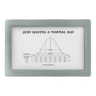 Just Having A Normal Day (Bell Curve Humor) Belt Buckle
