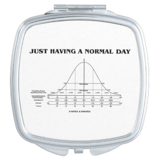 Just Having A Normal Day (Bell Curve Humor) Compact Mirror