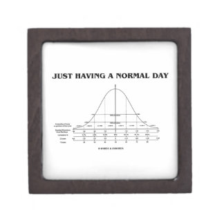 Just Having A Normal Day (Bell Curve Humor) Gift Box