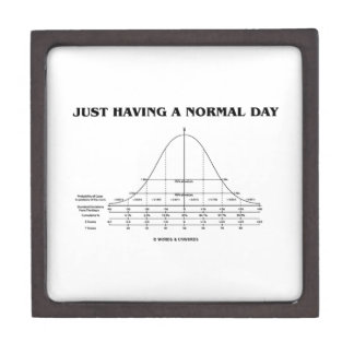Just Having A Normal Day (Bell Curve Humor) Jewelry Box
