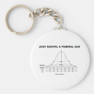 Just Having A Normal Day (Bell Curve Humor) Keychain