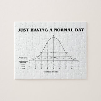 Just Having A Normal Day (Bell Curve Humor) Puzzle