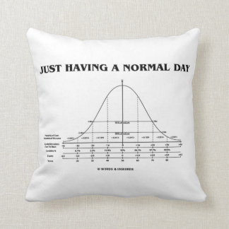 Just Having A Normal Day (Bell Curve Humor) Throw Pillow