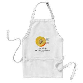 Just Having Another Peachy Day (Peach Anatomy) Aprons