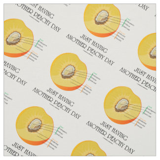 Just Having Another Peachy Day Peach Anatomy Fabric
