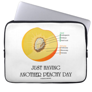 Just Having Another Peachy Day (Peach Anatomy) Laptop Sleeves