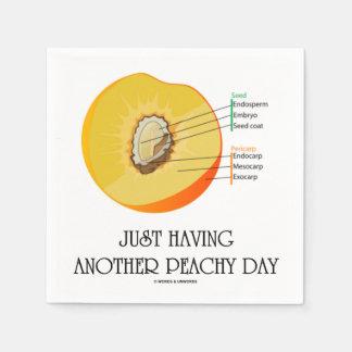 Just Having Another Peachy Day (Peach Anatomy) Napkin