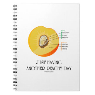 Just Having Another Peachy Day (Peach Anatomy) Spiral Note Book