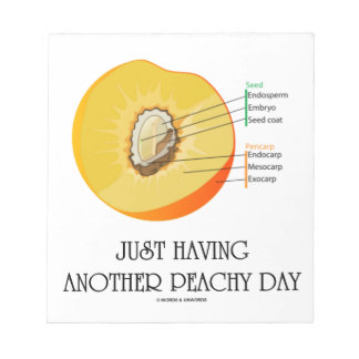 Just Having Another Peachy Day (Peach Anatomy) Note Pad
