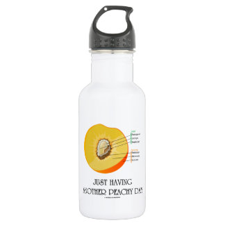 Just Having Another Peachy Day (Peach Anatomy) 18oz Water Bottle