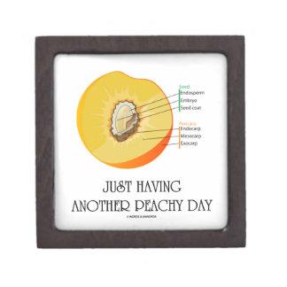 Just Having Another Peachy Day (Peach Anatomy) Premium Trinket Box