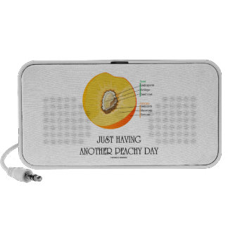 Just Having Another Peachy Day (Peach Anatomy) Notebook Speaker