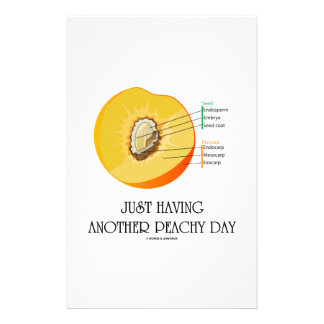Just Having Another Peachy Day (Peach Anatomy) Customized Stationery