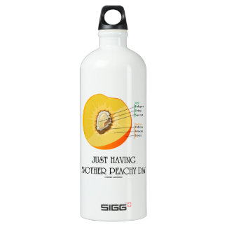 Just Having Another Peachy Day (Peach Anatomy) Water Bottle