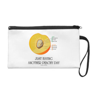 Just Having Another Peachy Day Peach Anatomy Wristlet Purse