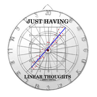 Just Having Linear Thoughts (Stats Humor) Dart Boards