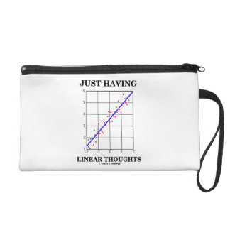 Just Having Linear Thoughts Stats Humor Wristlet Purse